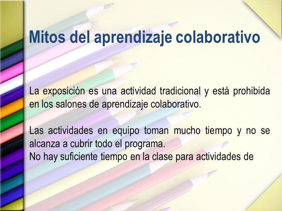 Mitos del aprendizaje colaborativo