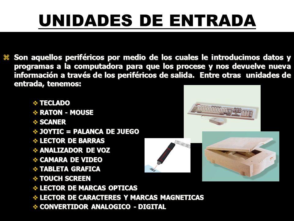 UNIDADES DE ENTRADA