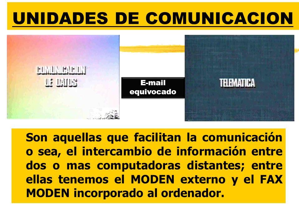 UNIDADES DE COMUNICACION