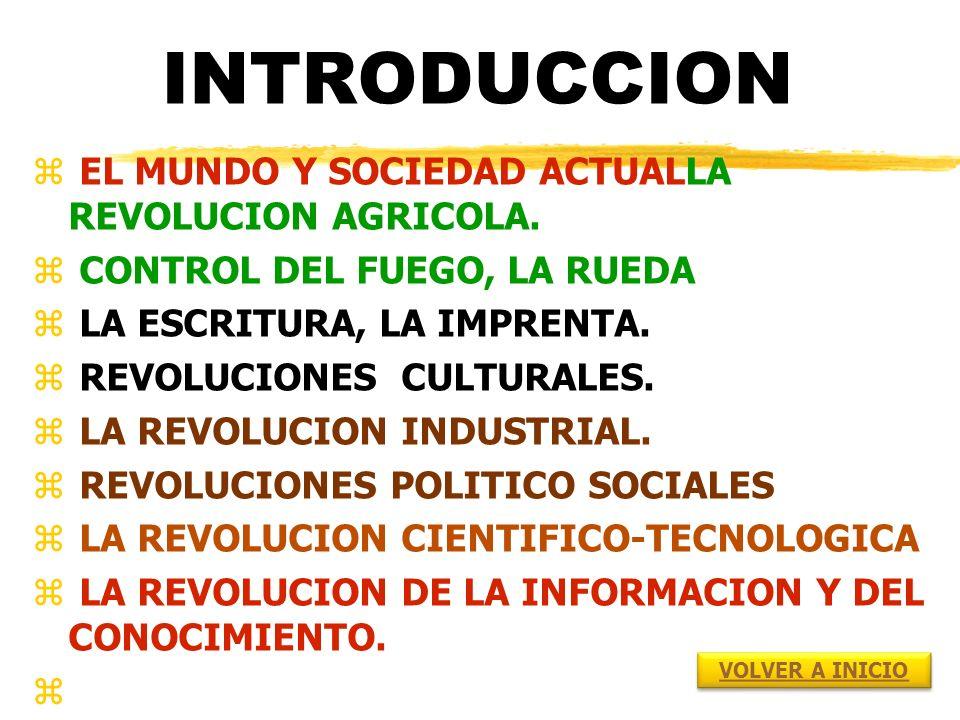 INTRODUCCION EL MUNDO Y SOCIEDAD ACTUALLA REVOLUCION AGRICOLA.