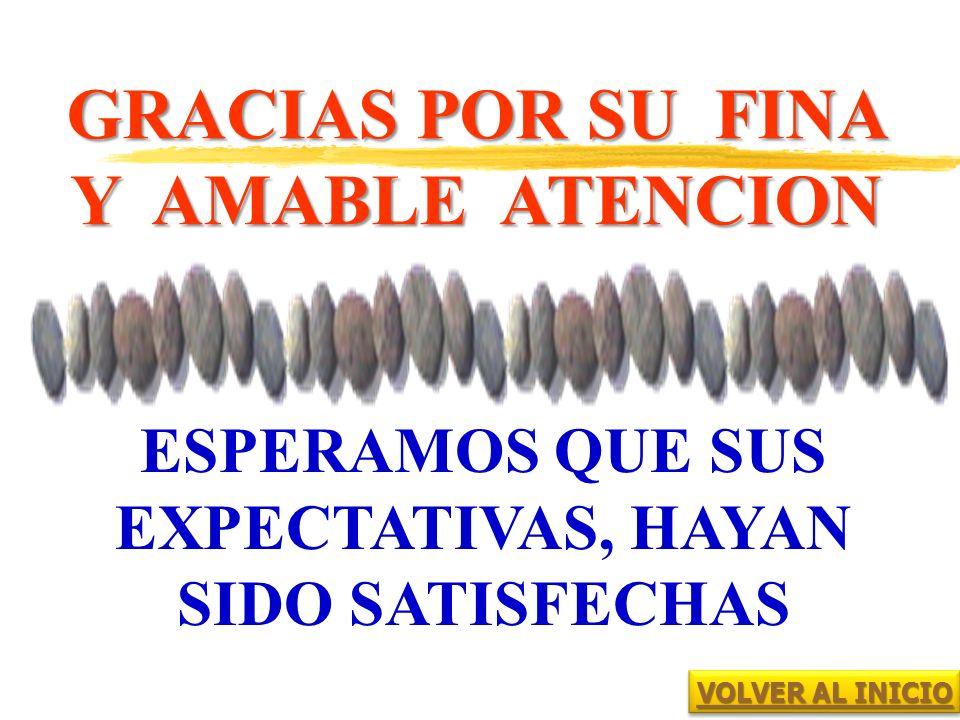 GRACIAS POR SU FINA Y AMABLE ATENCION