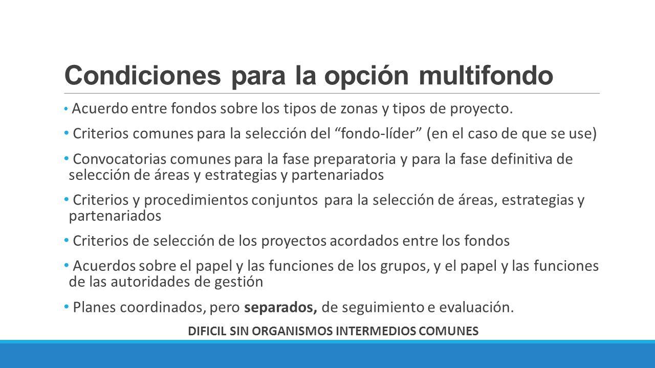 Condiciones para la opción multifondo