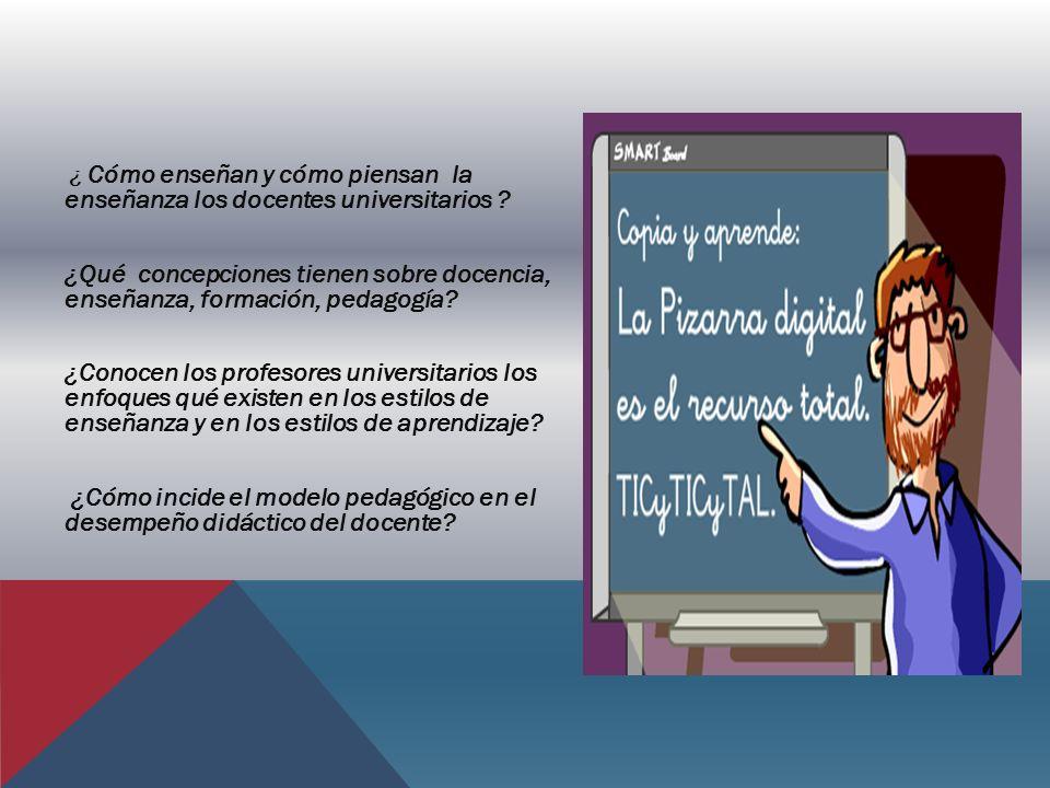 ¿ Cómo enseñan y cómo piensan la enseñanza los docentes universitarios