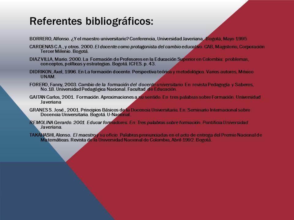 Referentes bibliográficos: