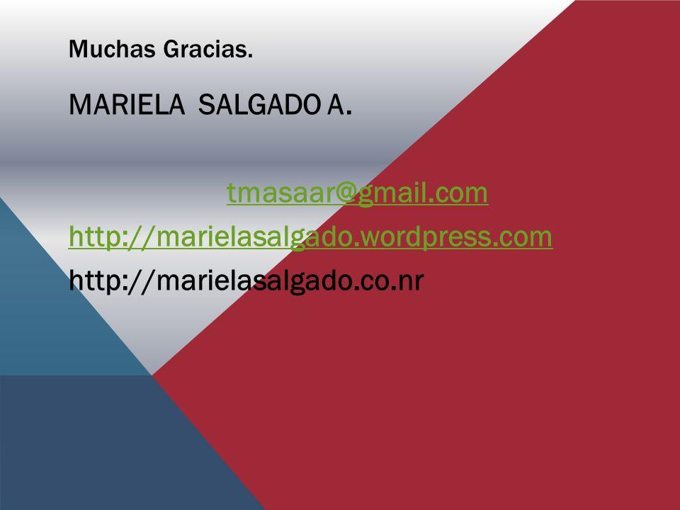 MARIELA SALGADO A. tmasaar@gmail.com