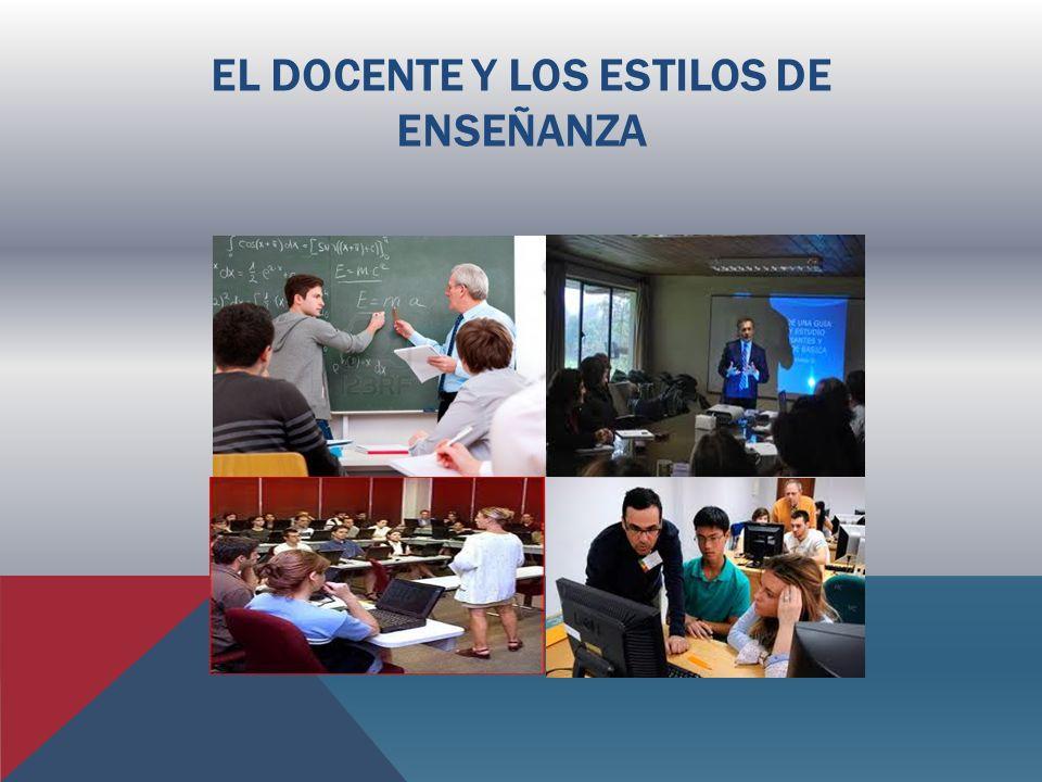 EL DOCENTE Y LOS ESTILOS DE ENSEÑANZA