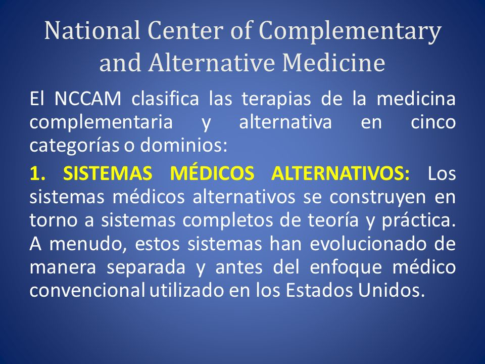 National Center of Complementary and Alternative Medicine