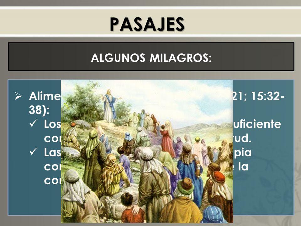 PASAJES ALGUNOS MILAGROS: