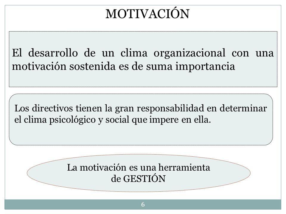 La motivación es una herramienta de GESTIÓN