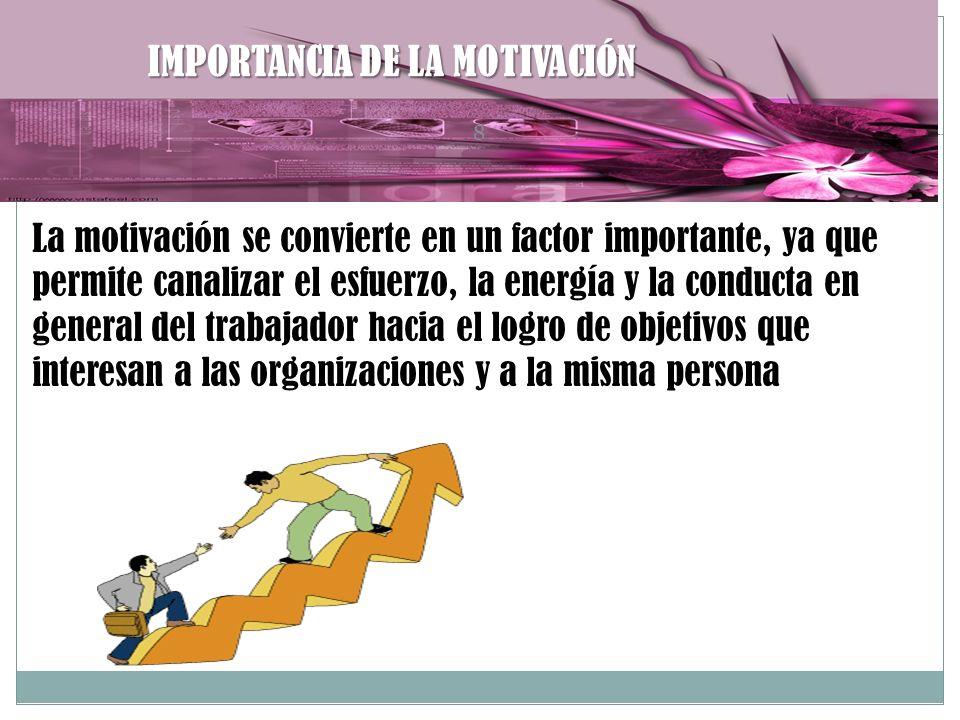 IMPORTANCIA DE LA MOTIVACIÓN