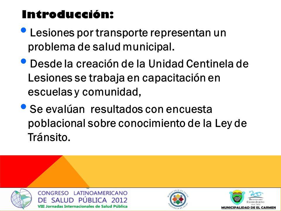 Lesiones por transporte representan un problema de salud municipal.