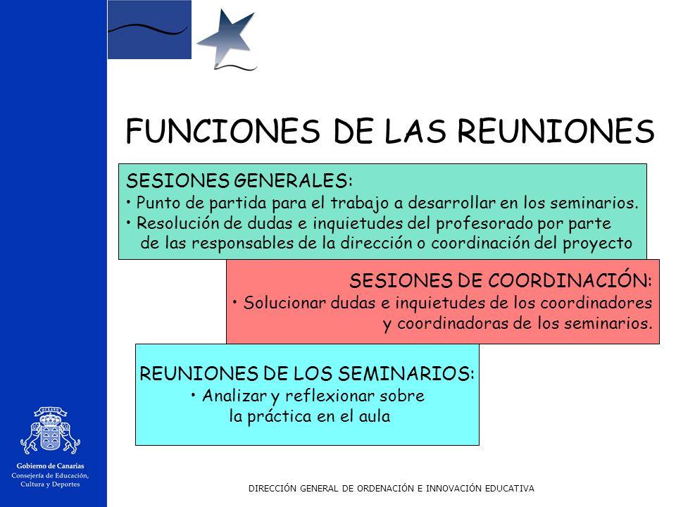 FUNCIONES DE LAS REUNIONES