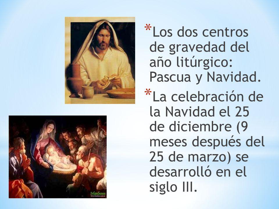 Los dos centros de gravedad del año litúrgico: Pascua y Navidad.