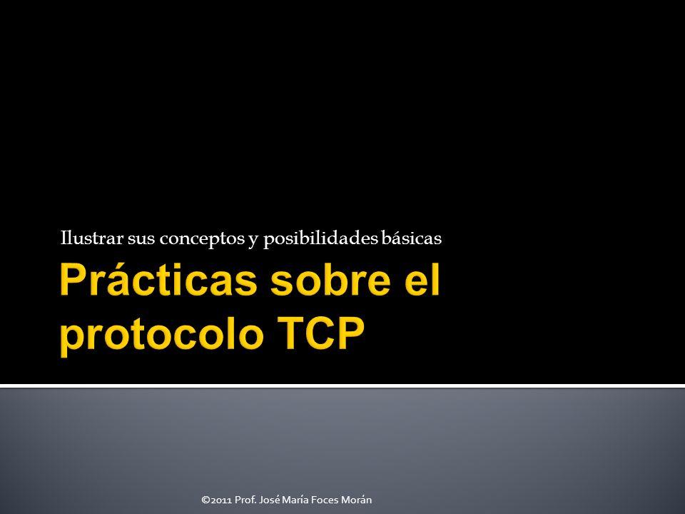 Prácticas sobre el protocolo TCP