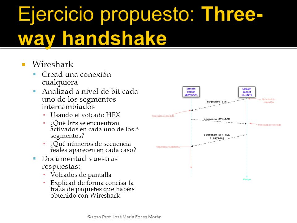 Ejercicio propuesto: Three-way handshake