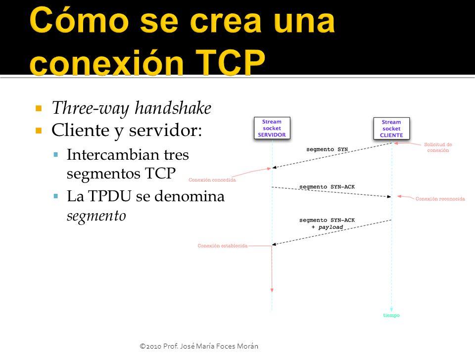Cómo se crea una conexión TCP