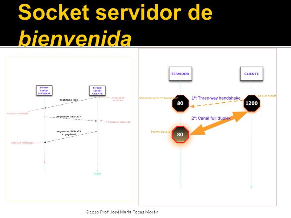 Socket servidor de bienvenida
