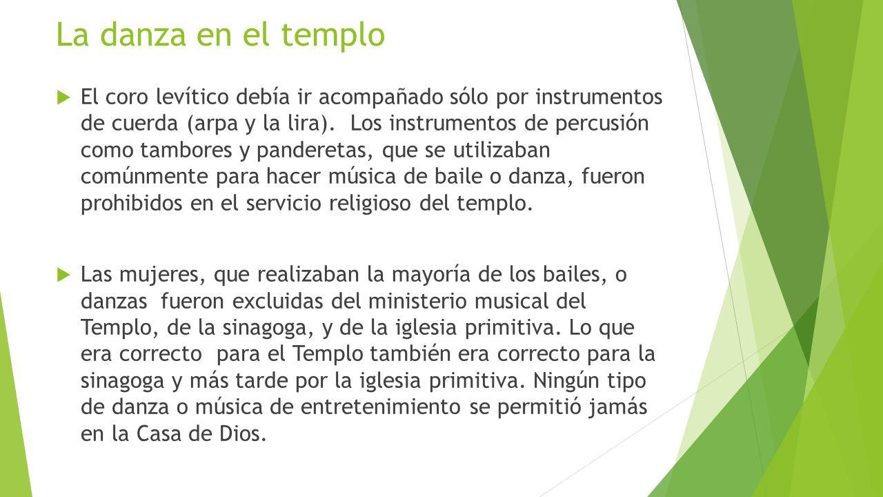La danza en el templo