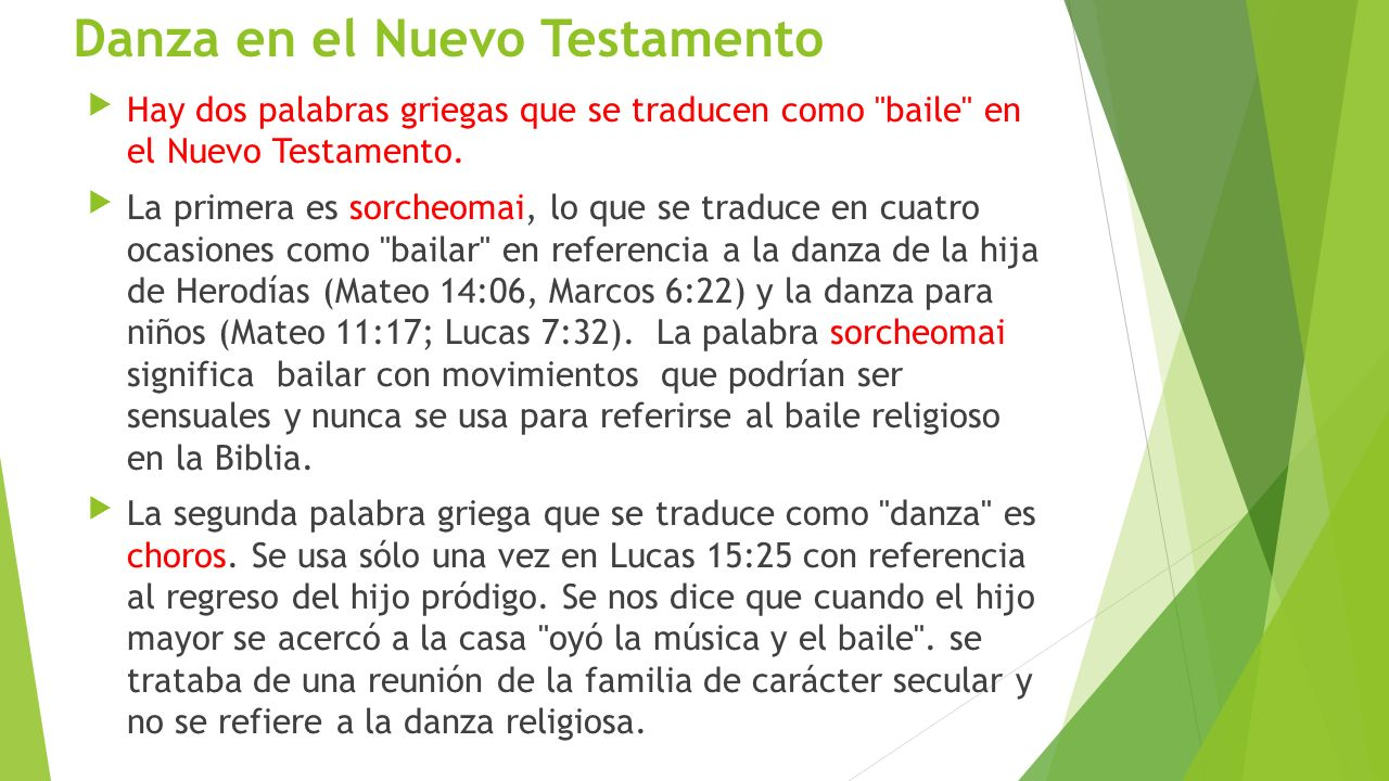 Danza en el Nuevo Testamento