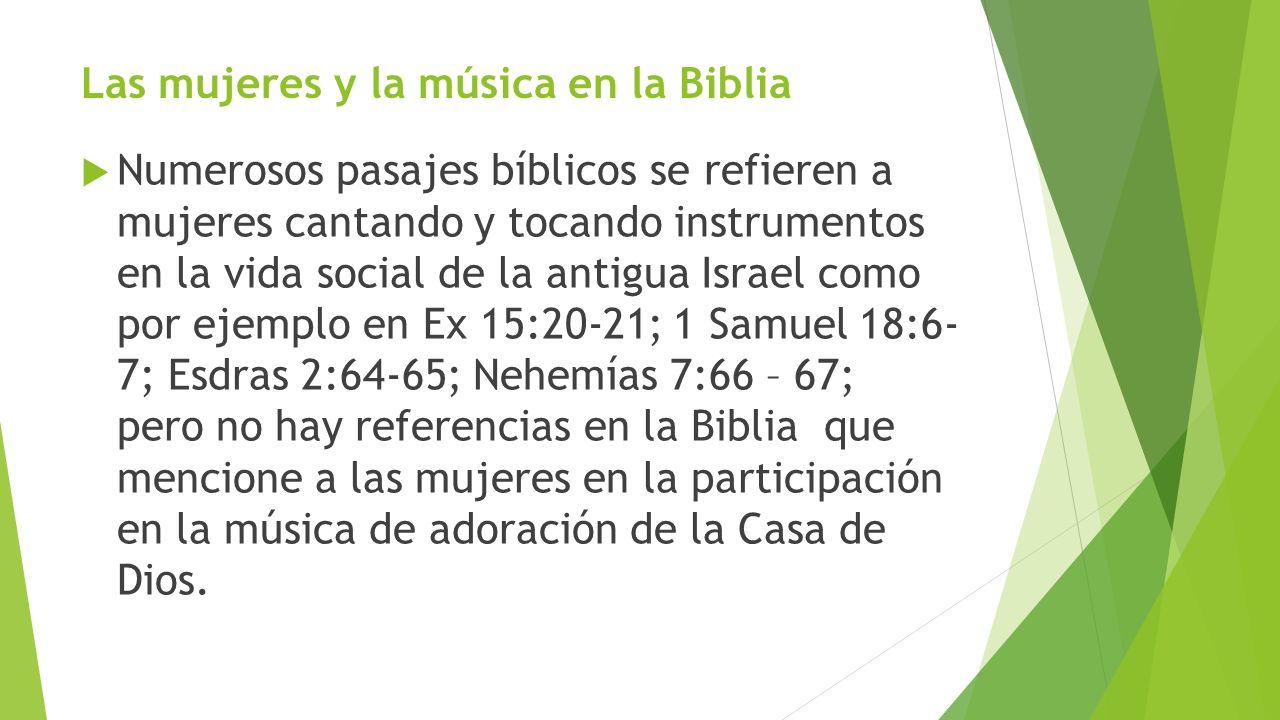 Las mujeres y la música en la Biblia