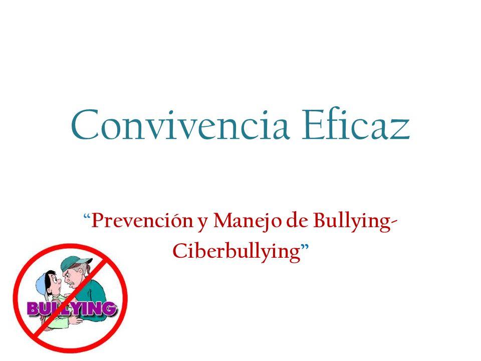 Prevención y Manejo de Bullying- Ciberbullying