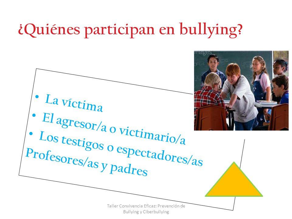 Taller Convivencia Eficaz: Prevención de Bullying y Ciberbullying