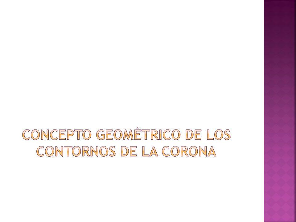 Concepto geométrico de los contornos de la corona