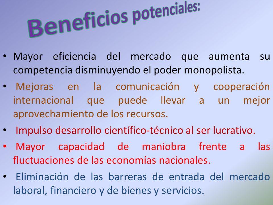 Beneficios potenciales: