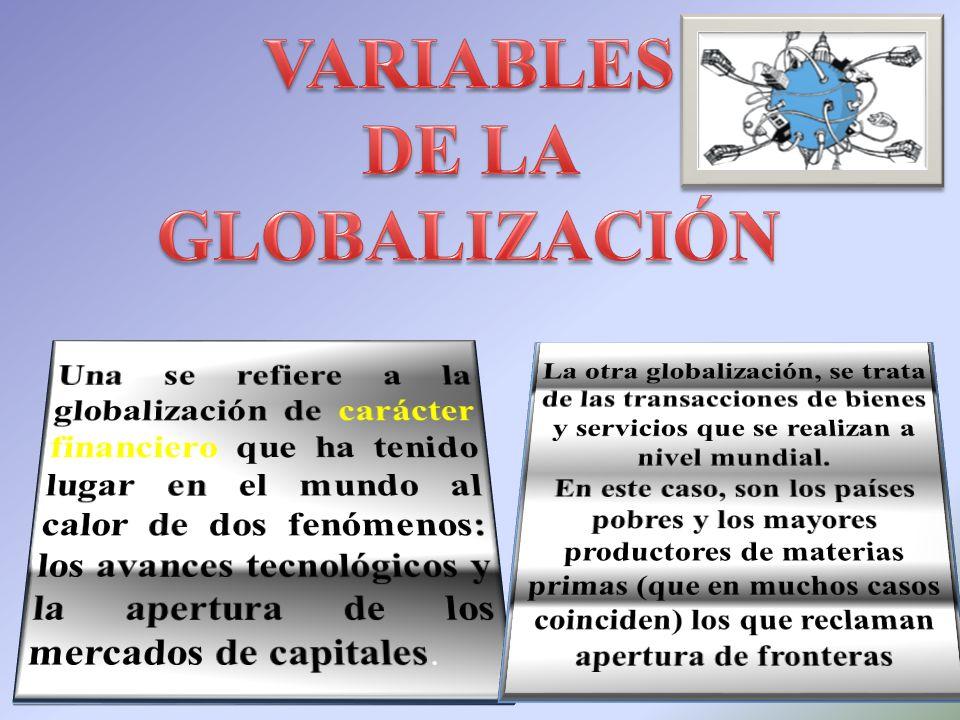 VARIABLES DE LA GLOBALIZACIÓN