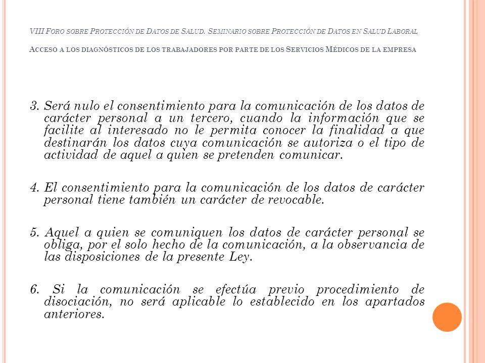 VIII Foro sobre Protección de Datos de Salud