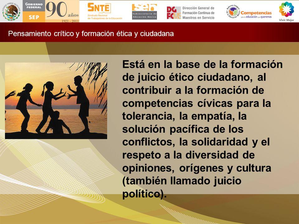 Pensamiento crítico y formación ética y ciudadana