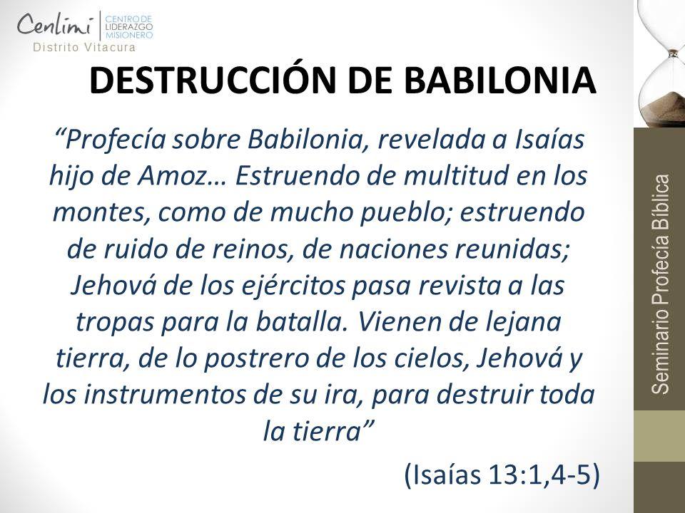 DESTRUCCIÓN DE BABILONIA