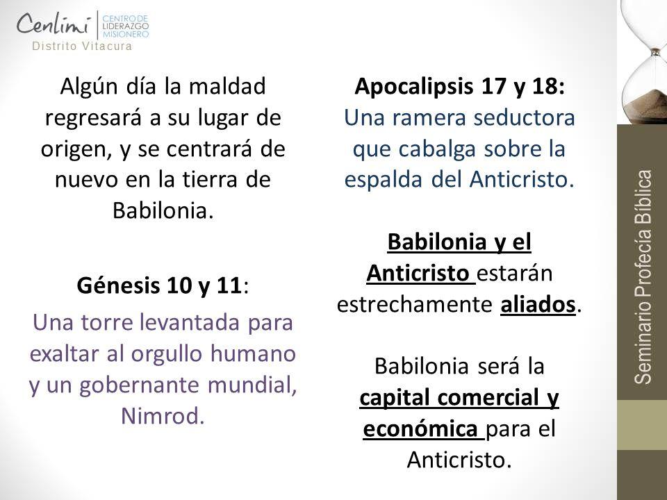 Babilonia y el Anticristo estarán estrechamente aliados.