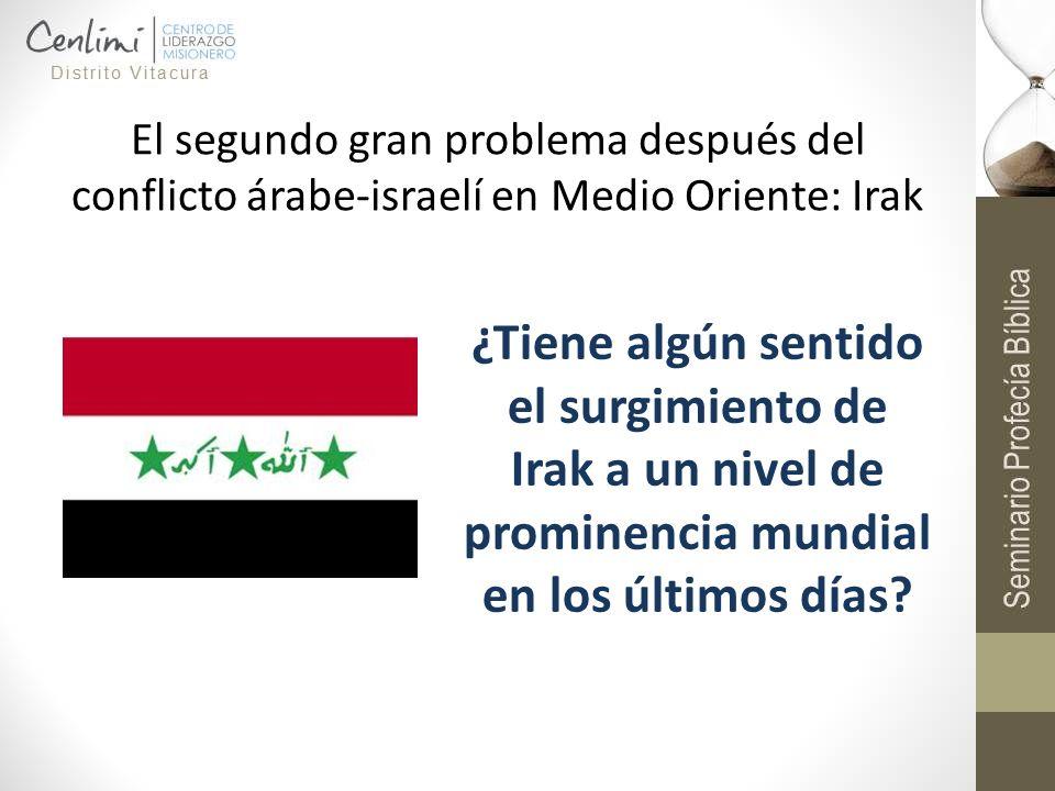 El segundo gran problema después del conflicto árabe-israelí en Medio Oriente: Irak