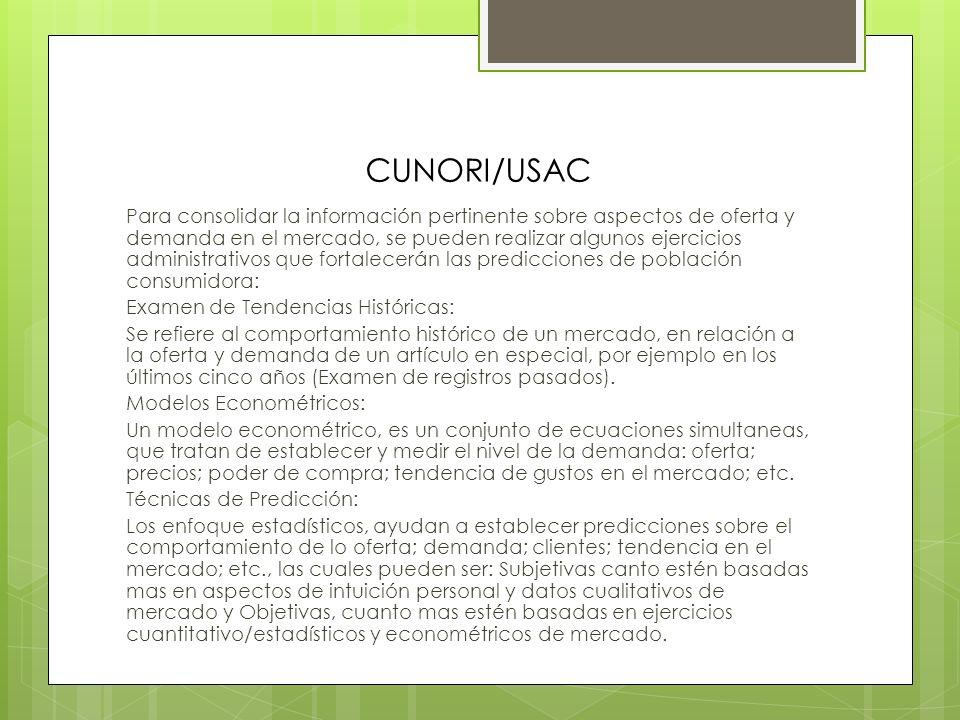 CUNORI/USAC