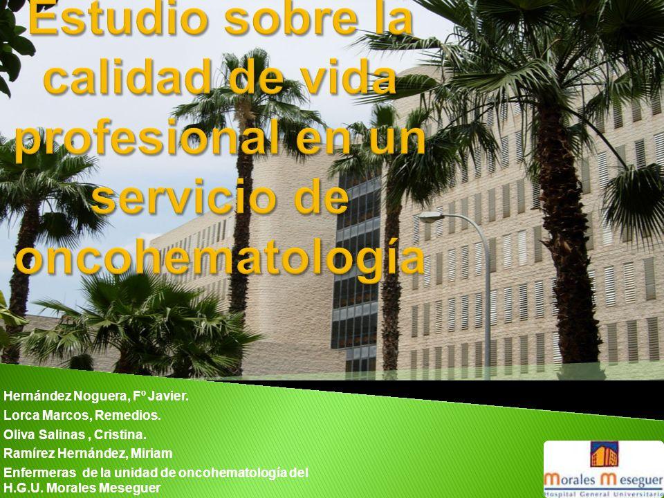 Estudio sobre la calidad de vida profesional en un servicio de oncohematología