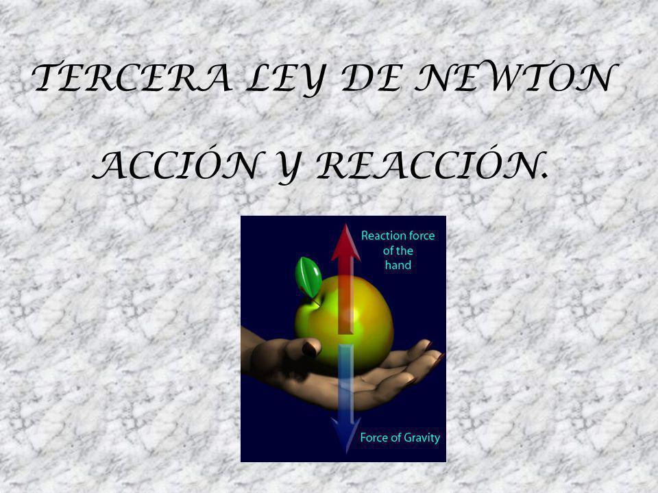 TERCERA LEY DE NEWTON ACCIÓN Y REACCIÓN.