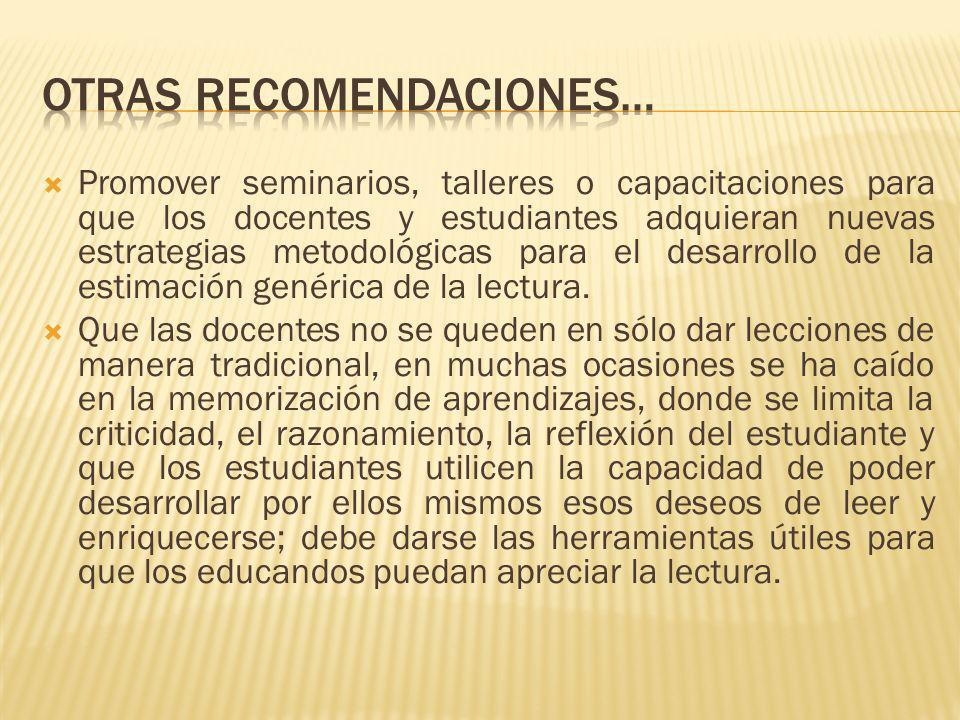 Otras recomendaciones…