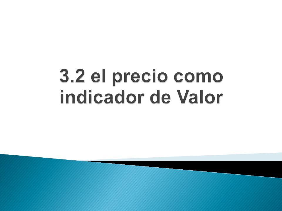 3.2 el precio como indicador de Valor