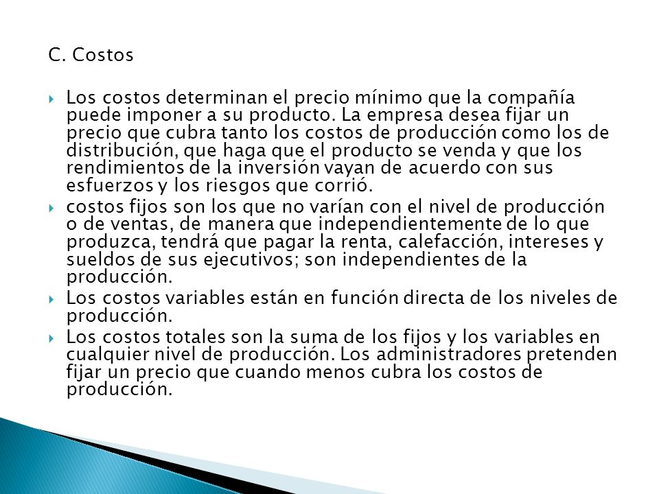 C. Costos