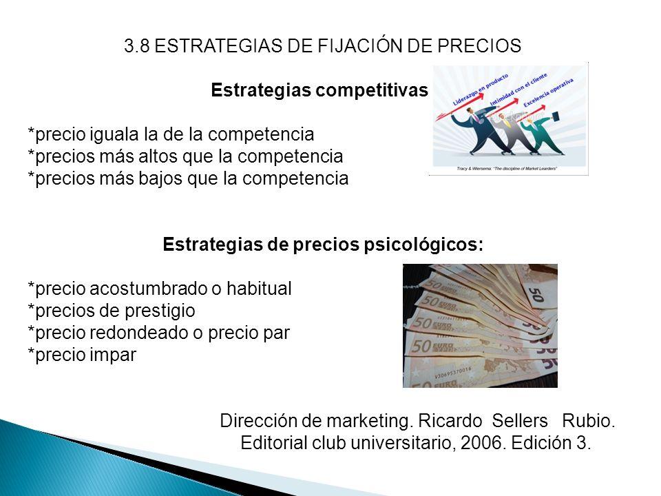 Estrategias competitivas: Estrategias de precios psicológicos: