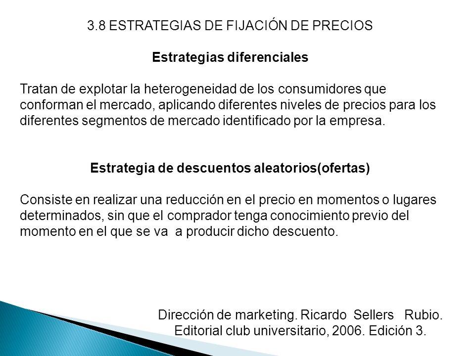 Estrategias diferenciales Estrategia de descuentos aleatorios(ofertas)