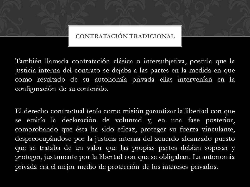 Contratación tradicional