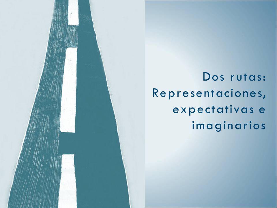 Dos rutas: Representaciones, expectativas e imaginarios