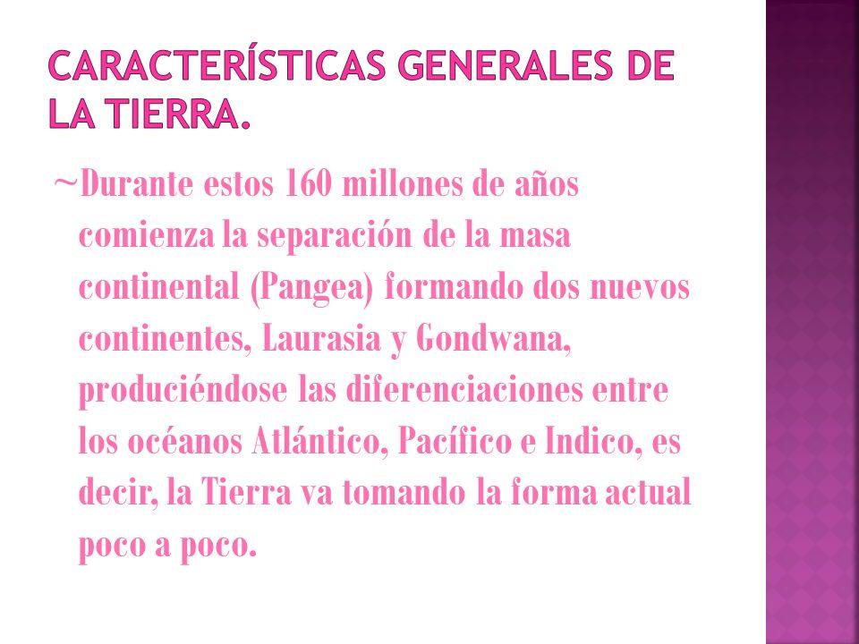 Características generales de la tierra.