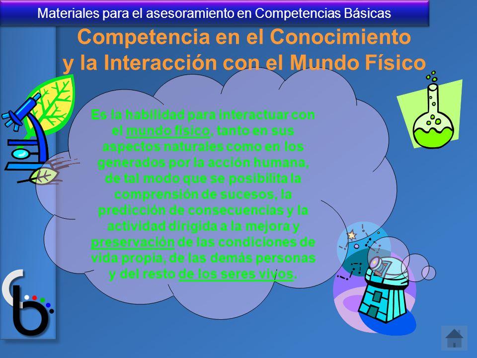 Competencia en el Conocimiento y la Interacción con el Mundo Físico