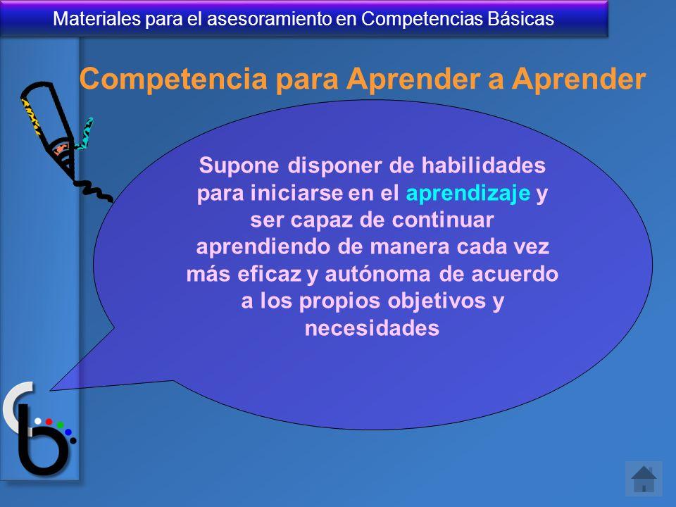 Competencia para Aprender a Aprender