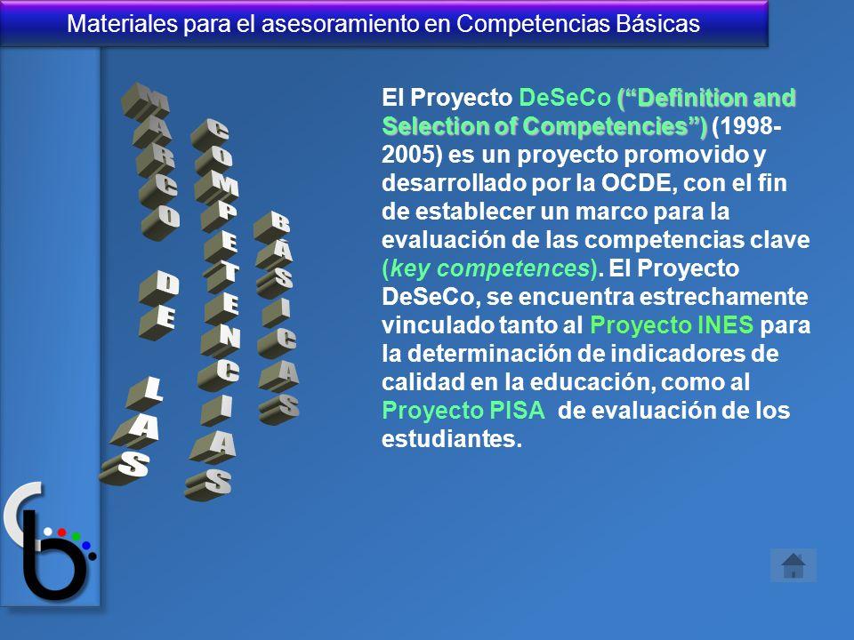 MARCO DE LAS COMPETENCIAS BÁSICAS