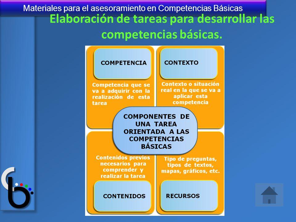 Elaboración de tareas para desarrollar las competencias básicas.