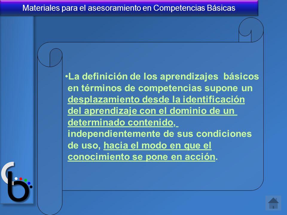 La definición de los aprendizajes básicos
